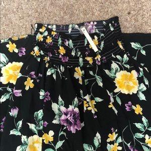 Floral long skirt